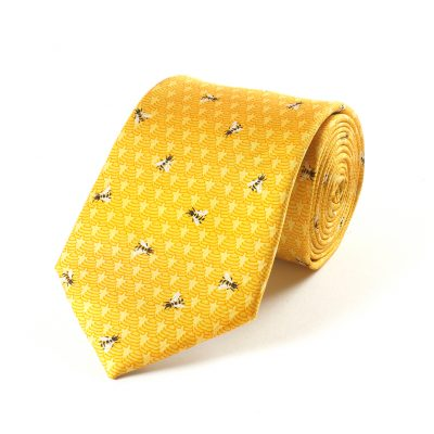 mens silk tie bees and hives