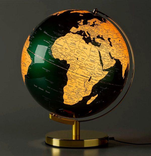 Green and Brass Globe 2
