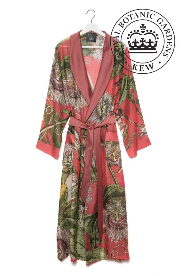 dressing gown passion flower coral