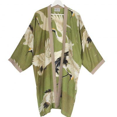 Collar Kimono Green Stork