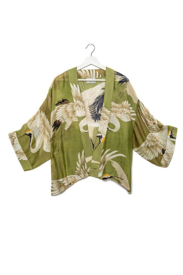 Kimono Green Stork