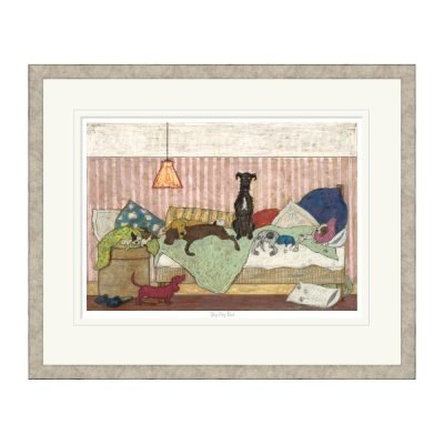 Big Dog Bed Framed Print