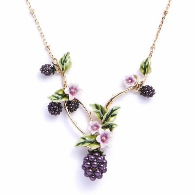 Blackberry Statement Necklace