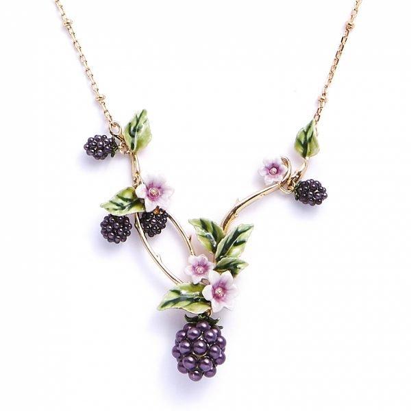 Blackberry Statement Necklace