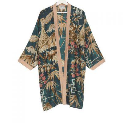 Collar Kimono Bamboo Teal