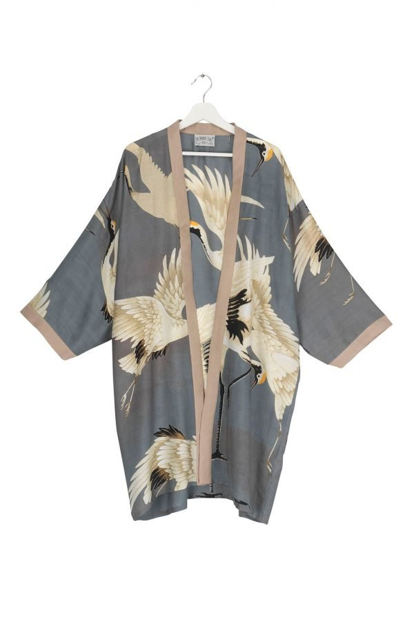 Collar Kimono Stork Slate