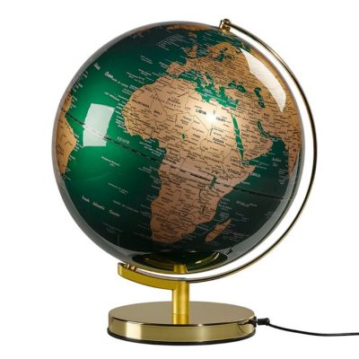 Green Brass Globe
