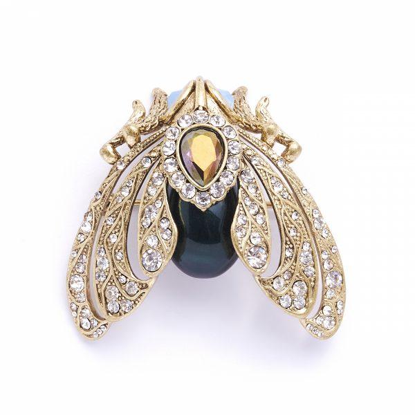 bejewelled moth brooch