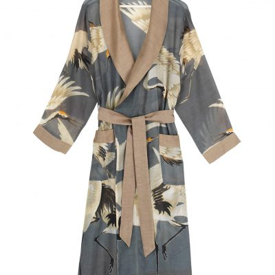 dressing gown stork slate grey