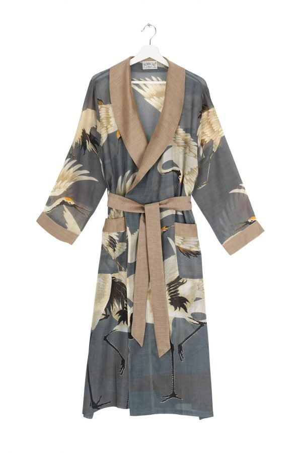 dressing gown stork slate grey