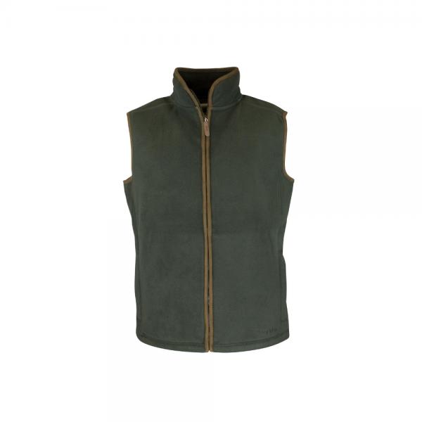 men's fleece gilet green