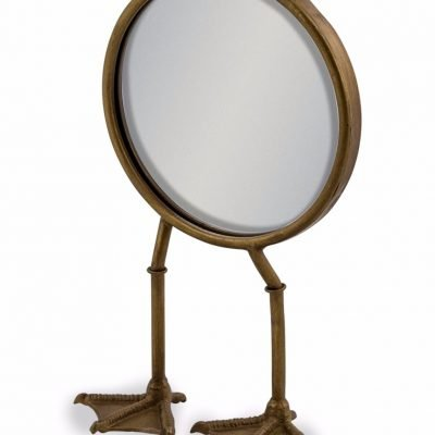 bronze bird legged table mirror