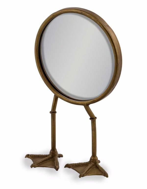 bronze bird legged table mirror