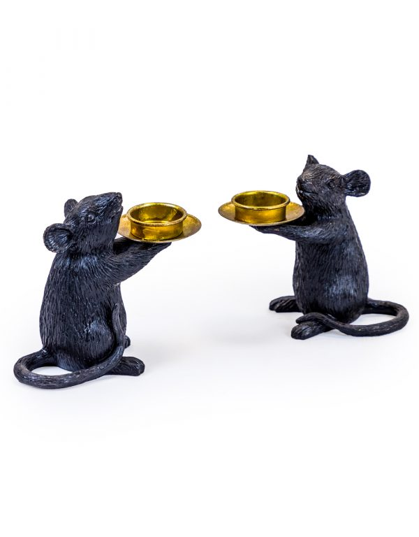 Mouse Candle Holders