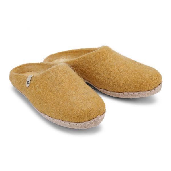 egos slippers mustard